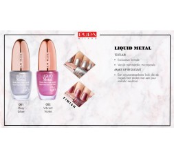 Pupa Material Luxury liquid metal nail polish 001
