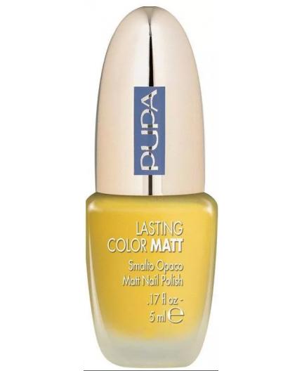 Pupa Lasting color nagellak Matt Yellow