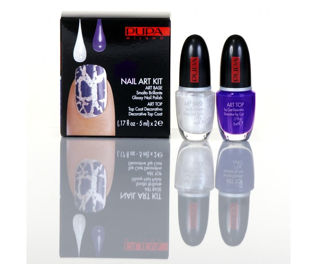PUPA Nailart White silver / Violet